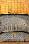 Jerusalem, Israel, Old City.The Dome of the Cain in front of the Dome of the Rock at Haram esh Sharif, the Noble Sanctuary<br />