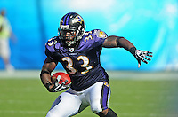 Sep. 20, 2009; San Diego, CA, USA; Baltimore Ravens fullback (33) LeRon McClain against the San Diego Chargers at Qualcomm Stadium in San Diego. Baltimore defeated San Diego 31-26. Mandatory Credit: Mark J. Rebilas-