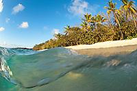 Split level image at Honeymoon Beach<br /> Virgin Islands National Park<br /> St. John<br /> U.S. Virgin Islands