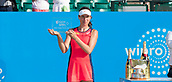 June 18th 2017, Nottingham, England; WTA Aegon Nottingham Open Tennis Tournament day 7 finals day;  Johanna Konta of Great Britain with the runner up trophy
