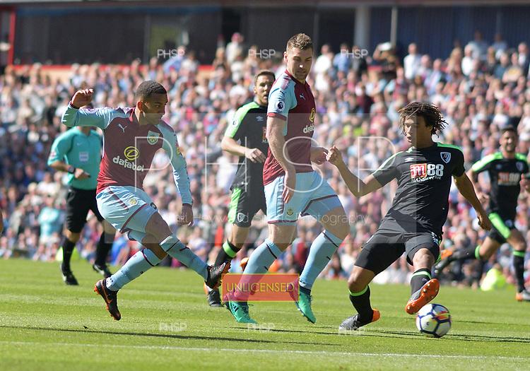 13/05/2018 Premier League Burnley v AFC Bournemouth<br /> <br /> Aaron Lennon shot