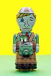 photographer metal toy figurine