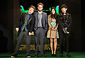 "Jan 20, 2011: Ryoko Shinohara, Seth Rogen, Jay Chou, Michel Gondry attend ""Green Hornet"" Japan premiere at Roppongi Hills, Tokyo, Japan.  (Photo by Atsushi Tomura/AFLO) [1035]"