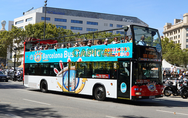 Sightseeing bus around Barcelona, Spain, on Wednesday September 16th 2015<br /> CAP/ROS<br /> &copy;ROS/Capital Pictures