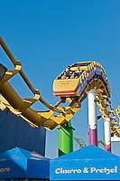 Santa Monica CA Pier, Roller Coaster, Pacific Park, Amusements, Roller Coaster, Ferris Wheel, Over Water