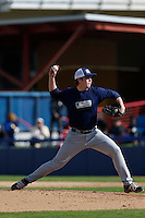 Trent Paddon of Yorba Linda High School in Yorba Linda, California participates in the Southern California scouts game for high school seniors at the Urban Youth Academy on February 9, 2013 in Compton, California. (Larry Goren/Four Seam Images)