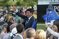 Jose Maria Olazabal being introduced at the opening ceremony of the 37th Ryder Cup at Valhalla Golf Club, Louisville, Kentucky, USA - 18th September 2008 (Photo by Manus O'Reilly/GOLFFILE)