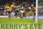 Ciarán O'Reilly Kerry has a shot at goal against  Clare in the Munster Minor Football Final at Fitzgerald Stadium on Sunday.