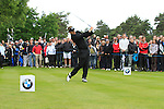 Luke Donald (ENG) tees off on the 11th tee during Day 3 of the BMW PGA Championship Championship at, Wentworth Club, Surrey, England, 28th May 2011. (Photo Eoin Clarke/Golffile 2011)