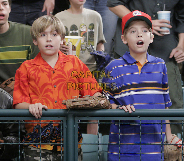 "DYLAN & COLE SPROUSE.in The Suite Life of Zack & Cody.""Big Hair and Baseball"" .*Editorial Use Only*.www.capitalpictures.com.sales@capitalpictures.com.Supplied by Capital Pictures."