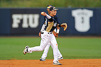 2 March 2012:  FIU infielder Jeremy Bajdaun (41) throws to first as the FIU Golden Panthers defeated the Brown University Bears, 6-5, at University Park Stadium in Miami, Florida.