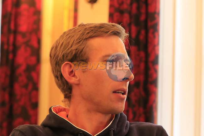 Bauke Mollema (NED) at the Dutch Federation press conference during the Men U23 Road Race of the UCI World Championships 2019 running 186.9km from Doncaster to Harrogate, England. 27th September 2019.<br /> Picture: Eoin Clarke | Cyclefile<br /> <br /> All photos usage must carry mandatory copyright credit (© Cyclefile | Eoin Clarke)
