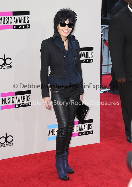 LOS ANGELES, CA - NOVEMBER 24: Joan Jett <br />  arrives at   The 2013 American Music Awards held at Nokia Live in Los Angeles, California on November 24,2013                                                                               © 2013 Hollywood Press Agency