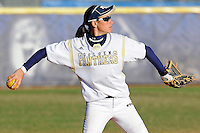 13 February 2010:  FIU's Jessy Alfonso (8) throws to first as the FIU Golden Panthers defeated the University of Illinois (Chicago) Flames, 2-1, at the University Park Stadium in Miami, Florida.