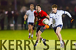 Cian Horan gets away from UCC's Luke Connolly  in the IT Tralee at the McGrath Cup Semi-Final against UCC at IT Tralee north Campus on Friday