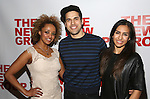 Asmeret Ghebremichael, Joel Perez and Yesenia Ayala attends the opening night party for the New Group Production of Wallace Shawn's  'Evening at the Talk House' at Green Fig Urban Eatery on 2/16/2017 in New York City.