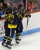Sami Tavernier (Merrimack - 25), Brett Seney (Merrimack - 13), Jared Kolquist (Merrimack - 15) - The visiting Merrimack College Warriors defeated the Boston University Terriers 4-1 to complete a regular season sweep on Friday, January 27, 2017, at Agganis Arena in Boston, Massachusetts.The visiting Merrimack College Warriors defeated the Boston University Terriers 4-1 to complete a regular season sweep on Friday, January 27, 2017, at Agganis Arena in Boston, Massachusetts.