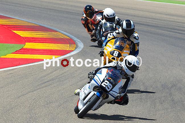 CEV Repsol en Motorland / Aragón <br /> a 07/06/2014 <br /> En la foto :<br /> Moto3<br /> 29 nuñez<br /> 8 berboom<br />RM/PHOTOCALL3000