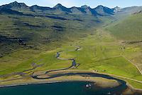 Óseyri, Stöð og Háteigur séð til vesturs, Fjarðabyggð áður Stöðvarfjarðarhreppur / Oseyri, Stod and Hateigur viewing west, Fjardabyggd former Stodvarfjardarhreppur.
