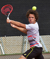 August 6, 2014, Netherlands, Rotterdam, TV Victoria, Tennis, National Junior Championships, NJK,  Casper Bonapart (NED)<br /> Photo: Tennisimages/Henk Koster