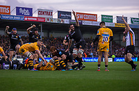 Exeter Chiefs' Harry Williams scores his sides first try<br /> <br /> Photographer Bob Bradford/CameraSport<br /> <br /> Gallagher Premiership - Exeter Chiefs v Wasps - Saturday 30th November 2019 - Sandy Park - Exeter<br /> <br /> World Copyright © 2019 CameraSport. All rights reserved. 43 Linden Ave. Countesthorpe. Leicester. England. LE8 5PG - Tel: +44 (0) 116 277 4147 - admin@camerasport.com - www.camerasport.com