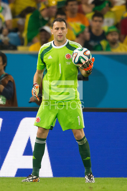 Goalkeeper David Ospina of Columbia