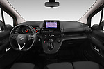 Stock photo of straight dashboard view of a 2019 Opel Combo Dynamic 4 Door Car van