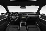 Stock photo of straight dashboard view of 2020 Audi e-tron-Sportback S-Line 5 Door SUV Dashboard