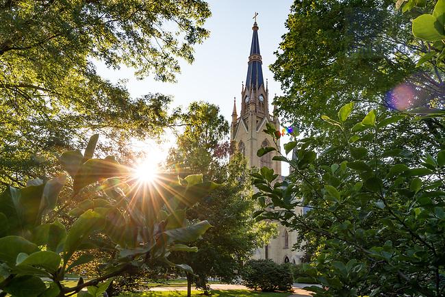 June 27, 2017; Basilica steeple, summer 2017 (Photo by Matt Cashore/University of Notre Dame)