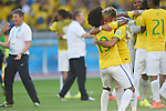 Willian, Neymar (BRA), JUNE 28, 2014 - Football / Soccer : Neymar and Willian of Brazil celebrate after winning the penalty shoot out during the FIFA World Cup Brazil 2014 round of 16 match between Brazil and Chile at Estadio Mineirao in Belo Horizonte, Brazil. (Photo by FAR EAST PRESS/AFLO)