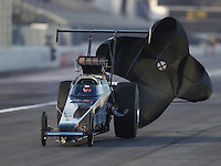 Feb 9, 2017; Pomona, CA, USA; NHRA top alcohol dragster driver Fred Hanssen during qualifying for the Winternationals at Auto Club Raceway at Pomona. Mandatory Credit: Mark J. Rebilas-USA TODAY Sports