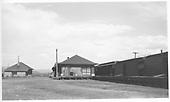 D&amp;RGW Gunnison depot with eastbound &quot;Shavano&quot; passenger train making its stop.<br /> D&amp;RGW  Gunnison, CO  Taken by Cuthbert, W. C. - 8/10/1939