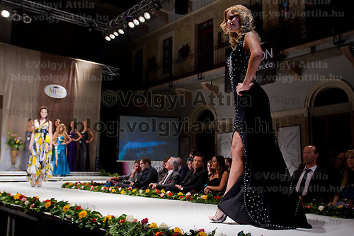 Petra Prancz attends the Miss Hungary 2010 beauty contest held in Budapest, Hungary on November 29, 2010. ATTILA VOLGYI
