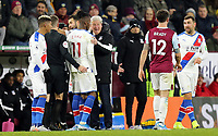 Crystal Palace's Crystal manager Roy Hodgson has words with Wilfried Zaha following a second half altercation <br /> <br /> Photographer Rich Linley/CameraSport<br /> <br /> The Premier League - Burnley v Crystal Palace - Saturday 30th November 2019 - Turf Moor - Burnley<br /> <br /> World Copyright © 2019 CameraSport. All rights reserved. 43 Linden Ave. Countesthorpe. Leicester. England. LE8 5PG - Tel: +44 (0) 116 277 4147 - admin@camerasport.com - www.camerasport.com