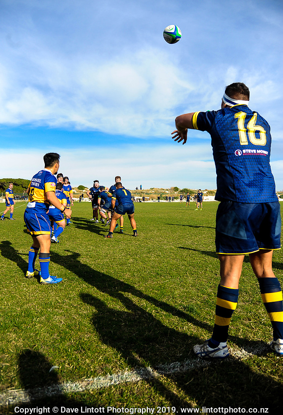 Action from the Otago premier rugby match between Dunedin and Taieri at Kettle Park in Dunedin, New Zealand on Saturday, 11 May 2019. Photo: Dave Lintott / lintottphoto.co.nz