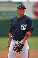 Washington Nationals Ryan Zimmerman during a Grapefruit League Spring Training game at Spacecoast Stadium on March 19, 2007 in Melbourne, Florida.  (Mike Janes/Four Seam Images)