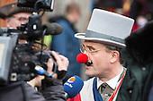 Düsseldorf, Germany. 27 February 2017. Thomas Geisel, Mayor of Düsseldorf. Carnival parade on Shrove Monday (Rosenmontag) in Düsseldorf, North Rhine-Westphalia, Germany.