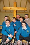 NEW CROSS: Mercy Mounthawk students who made the new cross which has placed in the oratory of St John's Cemetery in Tralee, front l-r: Brian Daly, Kieran O'Sullivan. Back l-r: Sean Williams, Patrick O'Shea, Fr Patsy Lynch, Gerard McElligott, Denis O'Shea (Teacher).