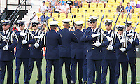 Coast Guard silent drill team during the WPS All-Star game at KSU Stadium in Kennesaw, Georgia on June 30 2010. Marta XI won 5-2.