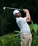 Lucas Glover in action during Round 1 of the CIMB Asia Pacific Classic 2011.  Photo © Andy Jones / PSI for Carbon Worldwide