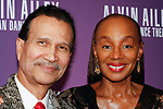 """Khephra Burns and Susan L. Taylor arrives at the Alvin Ailey American Dance Theater """"Modern American Songbook"""" opening night gala benefit at the New York City Center on November 29, 2017."""