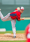 2 March 2013: Washington Nationals pitcher Nathan Karns on the mound during a Spring Training game against the St. Louis Cardinals at Roger Dean Stadium in Jupiter, Florida. The Nationals defeated the Cardinals 6-2 in their first meeting since the NLDS series in October of 2012. Mandatory Credit: Ed Wolfstein Photo *** RAW (NEF) Image File Available ***