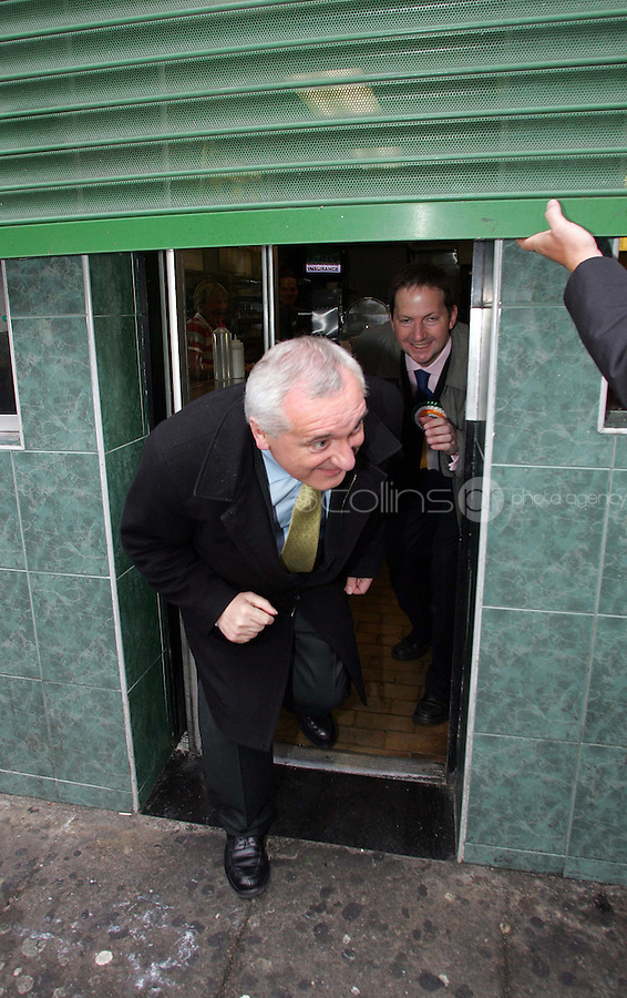 16/05/07 Taoiseach Bertie Ahern pictured campaigning in the Meath Street and the Liberties, Dublin this morning...Picture Collins, Dublin, Colin Keegan.
