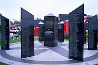 Old Town Lunenburg, a UNESCO World Heritage Site, NS, Nova Scotia, Canada - Fishermen's Memorial to Mariners Lost at Sea