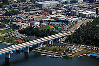 aerial photograph AT&T Field, Tennessee River Chattanooga, Tennessee