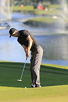 Ross Fisher (ENG) putts onto the 18th green during Thursday's Round 1 of the 2018 Turkish Airlines Open hosted by Regnum Carya Golf &amp; Spa Resort, Antalya, Turkey. 1st November 2018.<br /> Picture: Eoin Clarke | Golffile<br /> <br /> <br /> All photos usage must carry mandatory copyright credit (&copy; Golffile | Eoin Clarke)