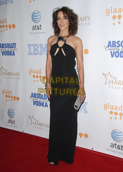 JENNIFER BEALS .attends The 19th Annual GLAAD Awards held at The Kodak Theatre in Hollywood, California, USA, April 26th 2008.                                                                     .full length long dress black silver neck cut out dress top .CAP/DVS.©Debbie VanStory/Capital Pictures