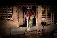 Mamun Islam, an illegal trader who was shot by the BSF on his left leg during smuggling at the Kaijuli Border.