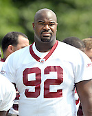 Ashburn, VA - August 4, 2009 -- Washington Redskins defensive tackle Albert Haynesworth (92) at the 2009 Washington Redskins training camp at Redskins Park in Ashburn Virginia on Monday, August 4, 2009.  Haynesworth is widely considered to be the best defensive lineman in the National Football League (NFL). .Credit: Ron Sachs / CNP