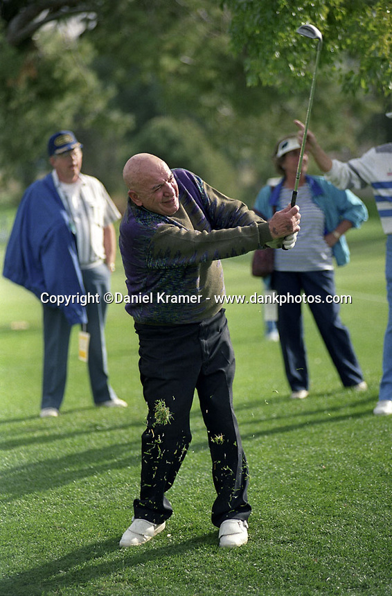 Telly Savalas at the Bob Hope Chrysler Classic in 1992.